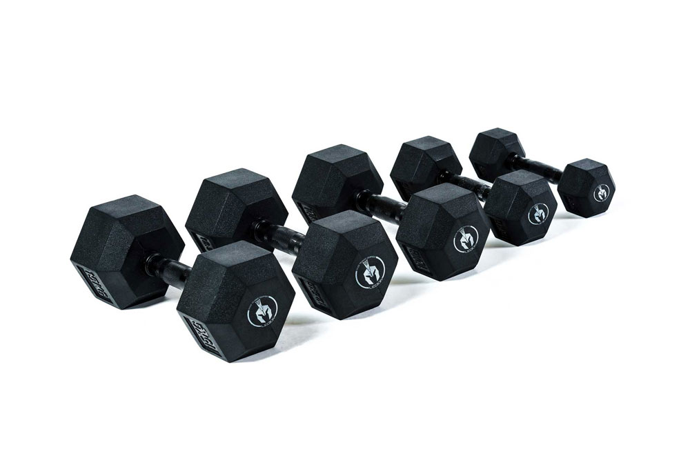 LG00050B-LG00078B-Hexagon-Rubber-Dumbbell