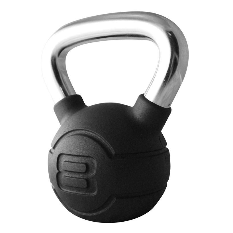 JTKBRC2-08-8kg-Black-rubber-kettlebell-with-chrome-handle